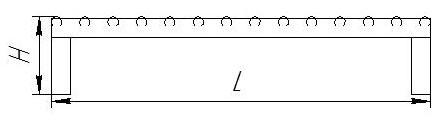 Рольганг приводной, вид сбоку