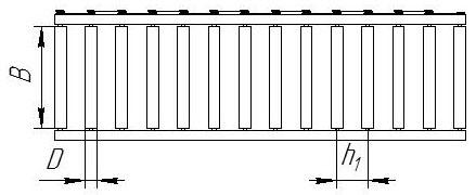 Рольганг приводной, вид сверху